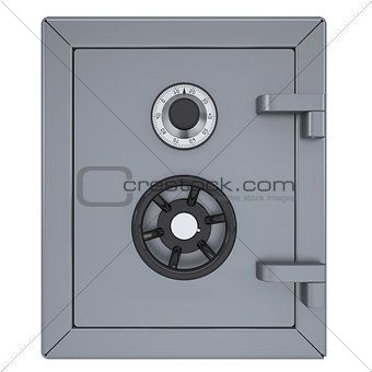 Closed metal safe