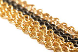 Golden and black chains