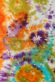 abstract pattern on handmade silk batik