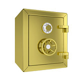 Closed gold safe