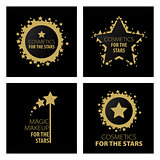 collection of vector logos magic makeup for the stars