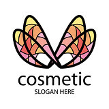 logo in the form of multi-colored wings for beauty salon