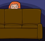 Child Behind Sofa