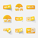 Free Zone wi-fi, sticker