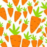 Carrot Seamless Pattern Background Vector Illustration