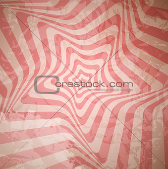 Abstract Hypnotic Retro Background. Vector Illustration