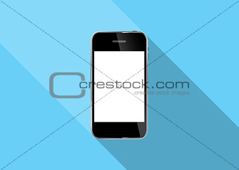 Abstract Design Realistic Mobile Phone Vector Illustration