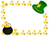 Shamrock boarder with pot of gold and hat