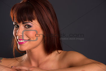 Bright Beautiful Auburn Haired Redhead Single Smiling Female Wom