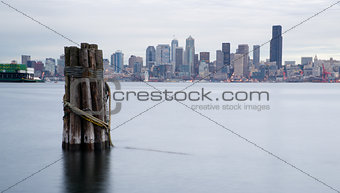 Waterfront Piers Dock Buildings Ferris Wheel Boats Seattle Ellio