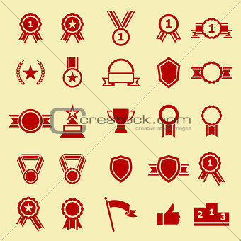 Award color icons on yellow background