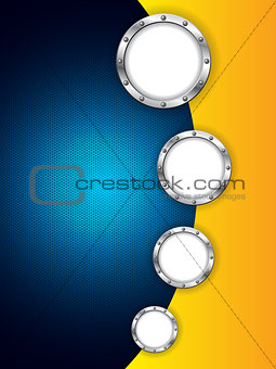 Abstract background design with hexagon mesh