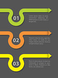 Infographic design with curling arrow elements
