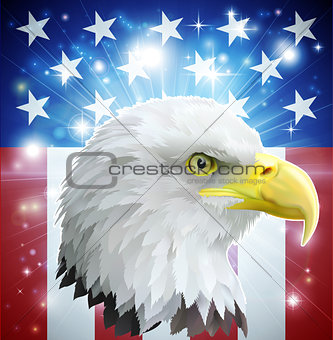 America eagle flag concept
