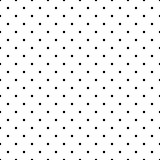 Seamless vector pattern, texture or background with black polka dots on white background.