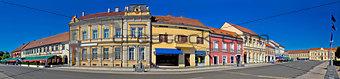 Town of Koprivnica main square panorama