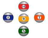 five balls