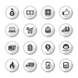 Shopping flat icons set 01