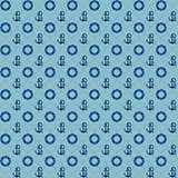 Seamless patterns, navy anchors and lifebuoy