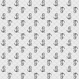Seamless patterns, gray anchors