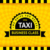 Taxi symbol with checkered background - 07