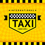 Taxi symbol with checkered background - 08