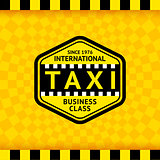 Taxi symbol with checkered background - 22