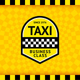 Taxi symbol with checkered background - 23