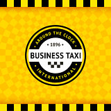 Taxi symbol with checkered background - 24