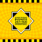 Taxi symbol with checkered background - 25