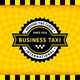 Taxi symbol with checkered background - 10