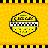 Taxi symbol with checkered background - 11