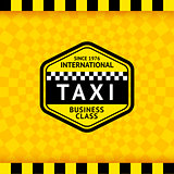 Taxi symbol with checkered background - 18