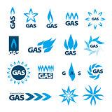 collection of vector logos of natural gas