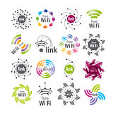 Collection of vector logos Wifi connection
