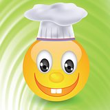 smile in  chefs hat