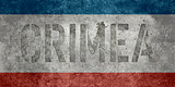 Crimea flag - Vintage version with text