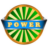 Power green circle logo