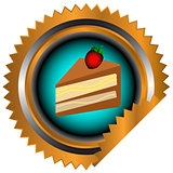 Icon of chocolate cake