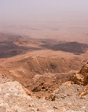 View over the Ramon Crater in Negev Desert in Israel.
