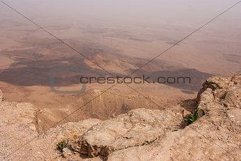 Crater Mizpe Ramon - Negev desert, Israel