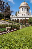 Baha'i Gardens and temple dome, Haifa, Israel