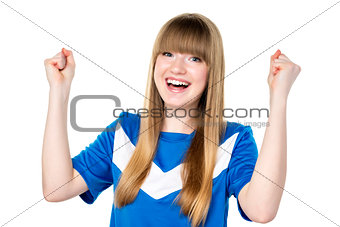 Football girl fist