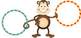 Monkey with Hula Hoops