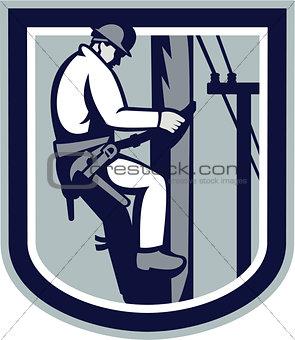 Power Lineman Telephone Repairman Electrician Retro