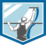 Window Cleaner Washer Worker Shield Retro