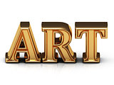 ART 3d inscription large golden letter