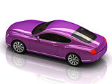 Premium lilac car with chromium wheels