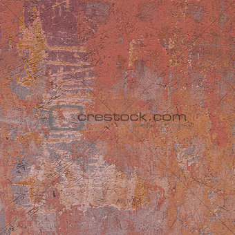 abstract grunge orange pink wall backdrop