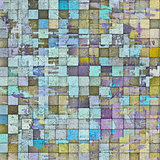 3d abstract mosaic pattern grunge gray wall backdrop